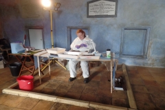 Prof Sue Black in Action during the exhumation